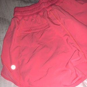 lululemon athletica Shorts - Pink lululemon drawstring shorts size 4!